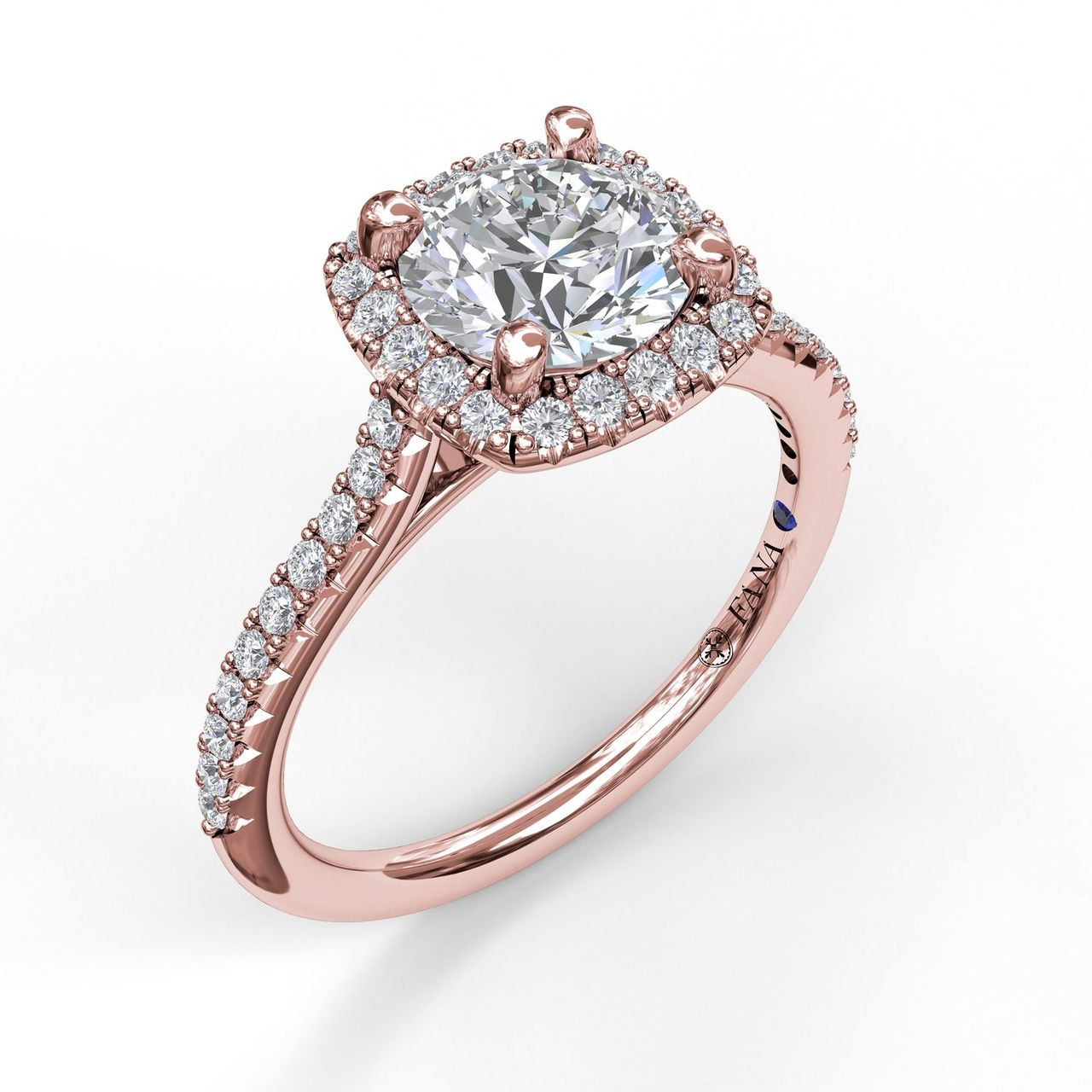 Fana Rose Gold Engagement Ring by Fana Bridal