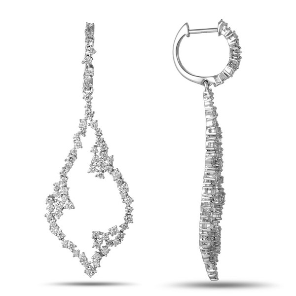 Diamond Statement Earrings by Luvente